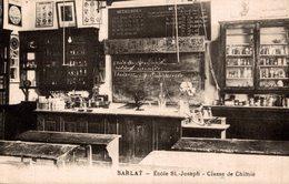 SARLAT ECOLE ST JOSEPH CLASSE DE CHIMIE - Sarlat La Caneda