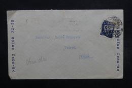 PORTUGAL - Enveloppe Commerciale De Vila Nova De Gaia Pour La France En 1943, Griffe Contrôle Douanier Au Dos - L 32613 - 1910-... République