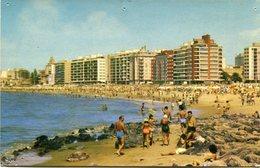 PLAYA POCITOS. MONTEVIDEO, URUGUAY. POSTAL CPA CIRCA 1975 NOT CIRCULATED -LILHU - Uruguay