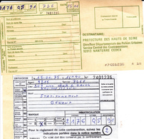 PIE.DOCS-T19-227 :  CONTRAVENTION  1975 NEUILLY SUR SEINE. - Unclassified