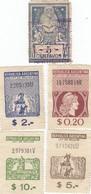 12541-LOTTICINO N°. 5 MARCHE DA BOLLO FISCALI ARGENTINA - Argentina