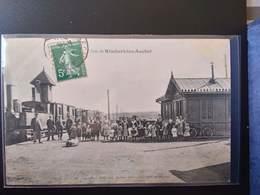 CPA (62) Rimbert Lez Auchel. Gare Avec Le Train.   Imp.Leleu Baron    (G Bis 442) - Altri Comuni
