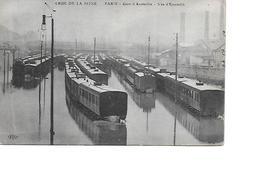 75 PARIS Cpa CRUE DE LA SEINE Gare D'Austerlitz Vue D'Ensemble - Arrondissement: 13