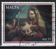 Malta 2008 Single 37c Stamp To Celebrate Christmas Nativity Paintings. - Malta