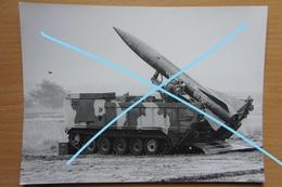 Photo ABL Brasschaat Test US Launch Rocket Lance Racket 1976 Artillerie Militaria - Guerre, Militaire