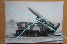 Photo ABL Brasschaat Test US Launch Rocket Lance Racket 1976 Artillerie Militaria - War, Military