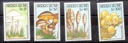 Serie De Sierra Leona N ºYvert 1290/93 ** SETAS (MUSHROOMS) - Sierra Leona (1961-...)