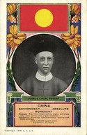China, Zaifeng, Regent Qing Dynasty Prince Chun, National Flag (1909) Postcard - China