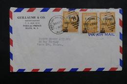 HAÏTI - Enveloppe Commerciale De Port Au Prince Pour Paris En 1953 , Affranchissement Plaisant - L 32619 - Haïti