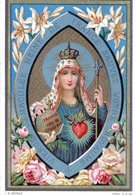 RARE IMAGE PIEUSE HOLY CARD SANTINO CANIVET MARIE REINE DE FRANCE  (5) - Devotion Images
