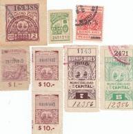 12542-LOTTICINO N°. 8 MARCHE DA BOLLO FISCALI ARGENTINA - Argentine