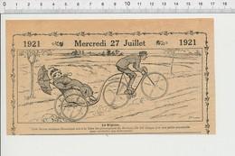 2 Scans Humour Régime Obésité Ancien Vélo-taxi ?? Vélocipède Bicyclette Ancienne   226X - Unclassified