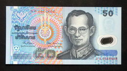Thailand Banknote 50 Baht Series 15 P#102 Type 1 Polymer SIGN#67 UNC - Thailand