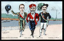 Illustrateur T. Bianco, Fetes Franco-espagnoles, Union Latine - Other Illustrators