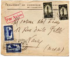 Lettre Par Avion De Casablanca CCI  Daguin Maroc Climat (20.12.1930) Pour Nancy - Maroc (1891-1956)