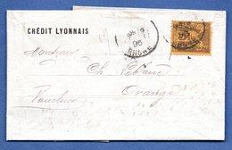 Bordereau  / De Lyon / Pour Orange / 20 Février 1895 - Poststempel (Briefe)