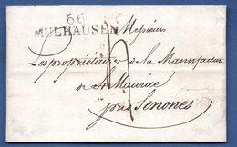 Lettre   / De Mulhouse / Pour Senones / 17 Octobre 1824 - Postmark Collection (Covers)