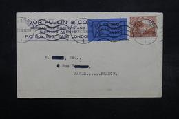 AFRIQUE DU SUD - Enveloppe Commerciale De East London Pour Paris En 1932 Par Avion , Affranchissement Plaisant - L 32624 - África Del Sur (...-1961)