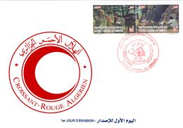 DZ Algérie 1837/8 FDC Croissant Rouge Rôle De La Femme Dans La Santé Durant La Guerre De Libération Algérienne - Red Cross
