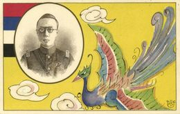 China, Emperor Puyi 溥儀 Of Manchukuo, National Flag (1932-34) Postcard (1) - China