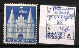 [815979]TB//**/Mnh-c:25e-Allemagne 1948 - N° 68Type1, Bizone - Berlin (West)