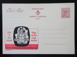 ENTIER CP PUBLIBEL 1710 .BANK VAN ROESELARE .   . NEUF - Publibels