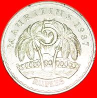 + PALM-TREES: MAURITIUS ★ 5 RUPEE 1987! LOW START ★ NO RESERVE! - Mauricio