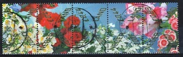 Netherlands 2007 Flowers Strip Of Five Stamps Forming One Design. - Used Stamps
