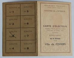 Carte Confédérale Syndicat CGT Avec Timbres 1947 Casablanca Perrier André Ingénieur Adjoint Génie Rural - Unclassified