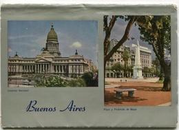 11 POSTALES MULTIVISTAS DE BUENOS AIRES, PHOTOSET ARGENTINA CPA NOT CIRCULATED CIRCA 1970's -LILHU - Argentina