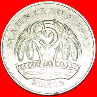 + PALM-TREES: MAURITIUS ★ 5 RUPEE 1991! LOW START ★ NO RESERVE! - Mauricio