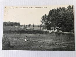 MALNOUE L'entrée  Du Pays En 1918 Tracteur - Autres Communes