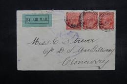 AUSTRALIE - Enveloppe De Cloncurry En 1923 Pour Cloncurry , étiquette Par Avion ? - L 32628 - Covers & Documents