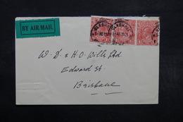 AUSTRALIE - Enveloppe De Blackall En 1923 Pour Brisbane En 1925, étiquette Par Avion - L 32629 - Covers & Documents