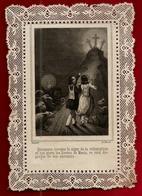 Image Pieuse Holy Card Canivet Dentelle Considérations Ou Explications - Récompense Datée De 1846 !! Ed Dopter RARE !! - Images Religieuses