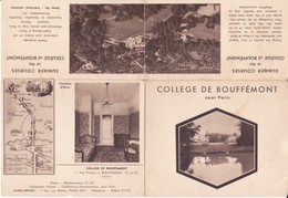 PIE.DOCS-F19-240 : COLLEGE DE BOUFFEMONT VAL D'OISE. PISCINE GOLF JAVELOT BASKET SALLE A MANGER SALLE ETUDE - Unclassified