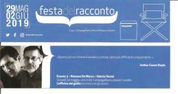 Segnalibro CARPI FESTA DEL RACCONTO 2019 - ROMANO DE MARCO E VALERIO VARESI L'officina Del Giallo - Segnalibri
