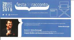Segnalibro CARPI FESTA DEL RACCONTO 2019 - STEFANO BARTEZZAGHI Zeitgeist - Segnalibri