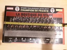 Poster STADE TOULOUSAIN 20eme BRENNUS - Rugby