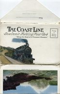 THE COAST LINE, SOUVENIR FOLDING POST CARD, 18 COLOR PHOTOS, PHOTOSET U.S.A. CPA NOT CIRCULATED CIRCA 1930's -LILHU - Estados Unidos