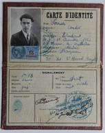Carte D'identité 1940 Préfecture Saone & Loire 4 Division Perrier André Saint Etienne Des Oullières - 1939-45