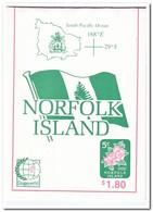 Norfolk Eiland, Singapore 1995, Postfris MNH, Flowers ( Booklet, Carnet ) - Norfolk Island