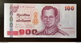 Thailand Banknote 100 Baht Series 15 P#114 SIGN#84 Replacement 1Sพ UNC - Thailand