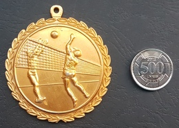 Lebanon 1984 Beautiful & Large Vollyball Tournament Medal - Gold Plated - Martyr Armend Khoury 26-5-1984 - Other