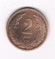 2 FILLER 1899  HONGARIJE /4811/ - Hongrie