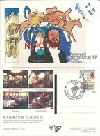 Pavarotti Luciano, Tenore Lirico, Annullo Modena 5.6.1999 Su Cartolina Pavarotti International CSIO. - Cantanti E Musicisti