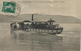 """Bateau à Aube  """" Hautecombe """" Sur Lac Du Bourget . Paddle Boat  Envoi à Mignerettes Par Corbeilles Du Gatinais Loiret - Ferries"""