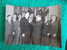 PHOTO ORIGINALE.ANCIENS COMBATTANTS.UNION DES MEDAILLES.CONGRES DE MARSEILLE 1957 - 1939-45