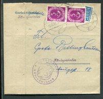 Bundesrepublik Deutschland / 1951 / Mi. 125 MeF A. Int. Gerichtsbrief, Int. Inhalt Mit Zahlkarte (18186) - [7] Federal Republic