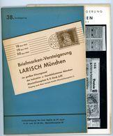 38. Larisch Auktion München 1953 - Früher Katalog - Catalogi Van Veilinghuizen